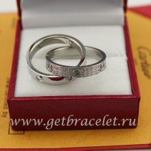 Copy Cartier LOVE Ring White Gold Diamonds