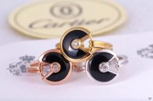 Amulette de Cartier Black Onyx Ring With Diamond in Yellow Gold, White Gold and Pink Gold