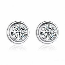 Cartier Diamants Legers DE Earrings in 18K White Gold With 1 White Diamond