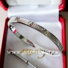 2017 New Cartier Love Bracelet SM White Gold With Diamonds N6710817