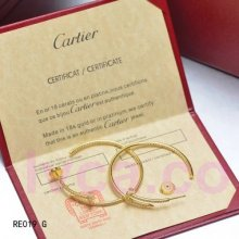Replica Cartier Juste Un Clou Earring 18K Yellow Gold With Diamonds N8515007