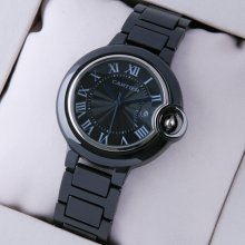 Ballon Bleu de Cartier medium black ceramic watch replica