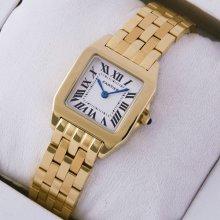 Cartier Santos Demoiselle 18K yellow gold replica watch for women