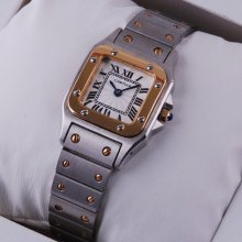 Cartier Santos Galbee two-tone 18K yellow gold and steel small watch for women