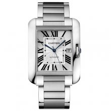 Cartier Tank Anglaise extra large replica watch for men W5310008 stainless steel