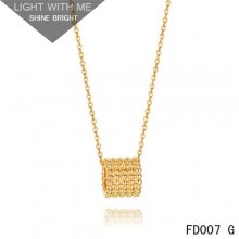 Van Cleef and Arpels Yellow Gold Perlee Pendant 5 rows