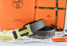 Hermes Reversible Belt Brown/Black Togo Calfskin With 18k Gold H Buckle