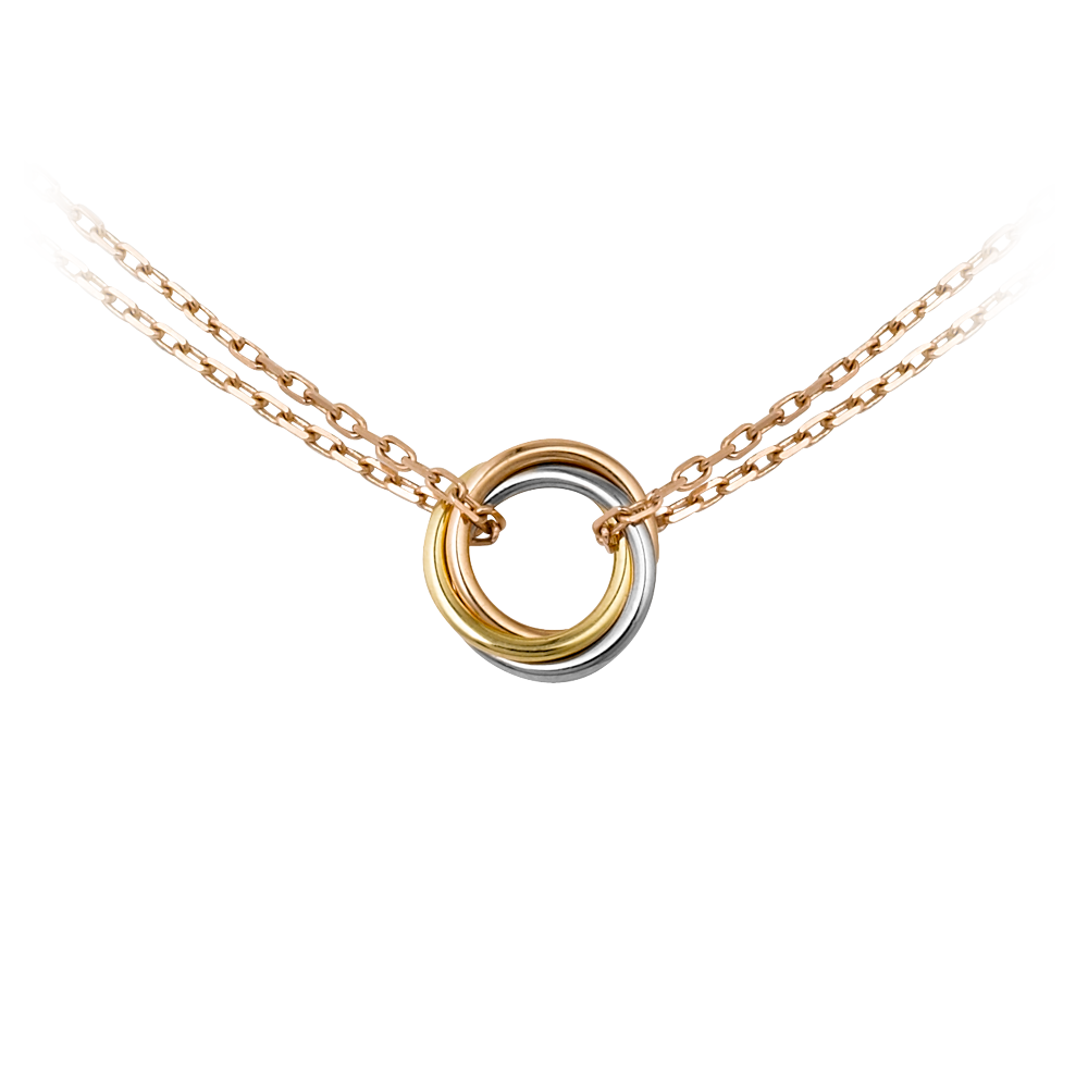 Sweet Trinity Necklace 3-Gold, Pink Gold B7218200