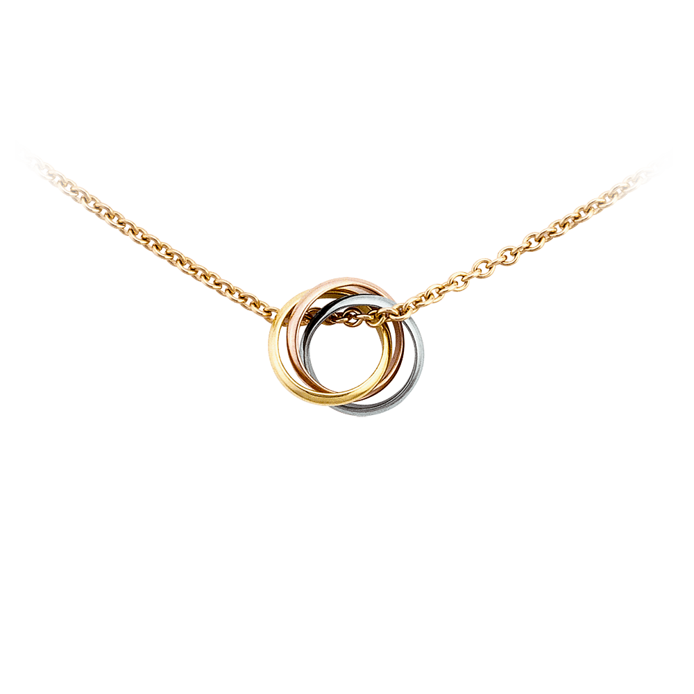 Baby Trinity Necklace 3-Gold, Yellow Gold B7223900