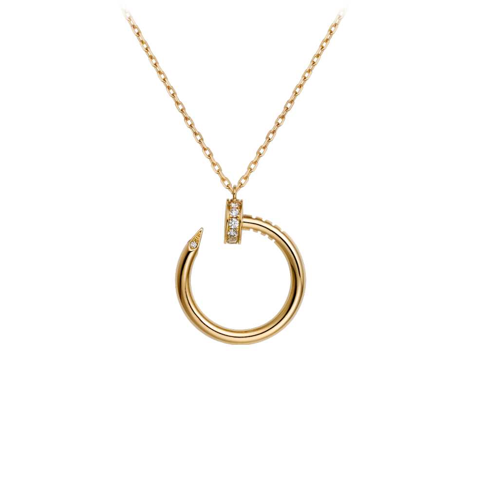 Cartier Juste Un Clou Necklace Yellow Gold, Diamonds B7224512