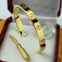 Cartier Semi-Open Love Bracelet Yellow Gold B6032417