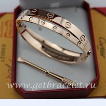 Replica Cartier Love Pink Gold Bracelet (Combo Style)