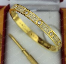 Cartier Love Bracelet Diamond-Paved Yellow Gold Diamonds N6035017