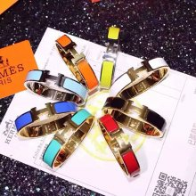 Hermes Clic Clac H Enamel Bracelet With Gold/Silver/Pink Gold MM
