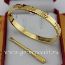 Replica Cartier Yellow Gold Love Bracelet For Men and Women B6035516 (New Version - Prevent Screws Fall Out)