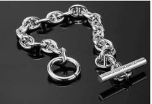 Replica Hermes Chaine D'ancre Bracelet in Silver