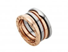 Replica Bvlgari B.zero1 Labyrinth Ring in Rose and White Gold